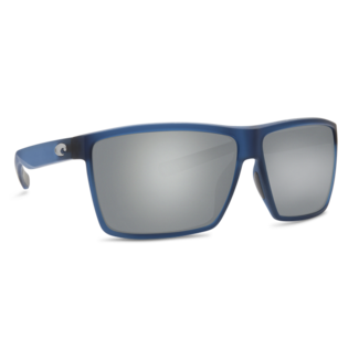 Costa Rincon Matte Atlantic Blue Frame with Gray Silver Mirror Plastic Lens 580P