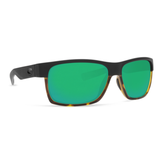 Costa Half Moon Matte Black Frame with Tortoise Green Mirror Plastic Lens 580P