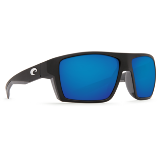 Costa Bloke Black Matte Frame with Gray Blue Mirror Plastic Lens 580P