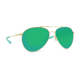 Costa Piper Shiny Gold Frame with Green Mirror Plastic Lens 580P