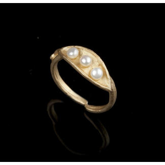 Michael Michaud Design Michael Michaud Pea Pod Ring - Triple Pearl Adjustable