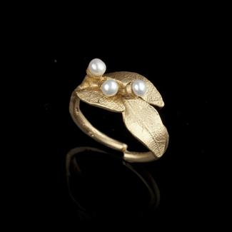 Michael Michaud Design Michael Michaud Bay Laurel with Pearl Ring - Adjustable