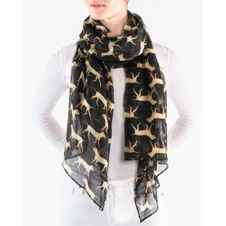 Printed Village Yellow Lab Scarf