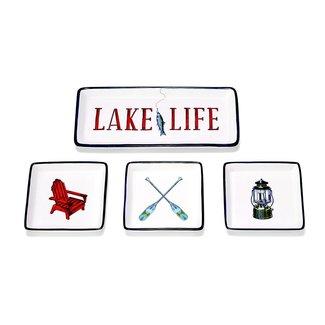 Two's Company Lake Life Dish Set