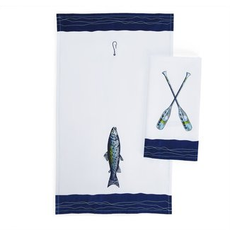 Two's Company Lakin It Easy Dish Towel Assorted