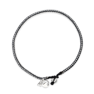 4Ocean 4Ocean Braided Bracelet Great White Shark - Gray, White & Black