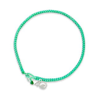 4Ocean 4Ocean Braided Bracelet Loggerhead Sea Turtle - Sea Foam Green