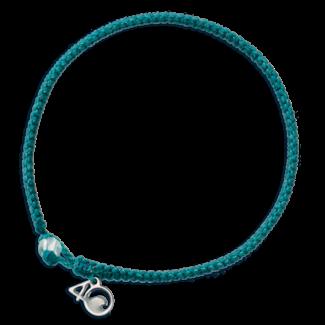 4Ocean 4Ocean Braided Bracelet White-Sided Dolphin - Turquoise