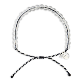 4Ocean 4Ocean Beaded Bracelet Great White Shark - Gray, White & Black