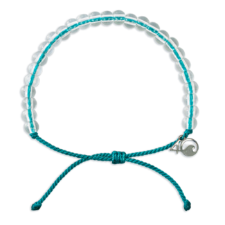 4Ocean 4Ocean Beaded Bracelet White-Sided Dolphin - Turquoise