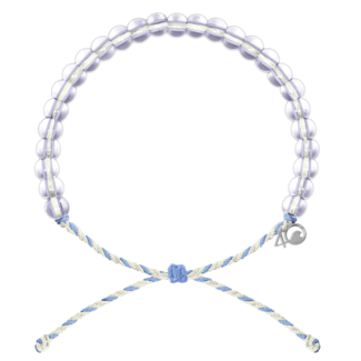 4Ocean 4Ocean Beaded Bracelet Beluga Whale - White/Light Blue