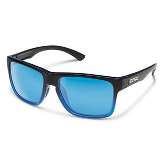 SunCloud Suncloud Rambler Black Blue Polarized Blue Mirror