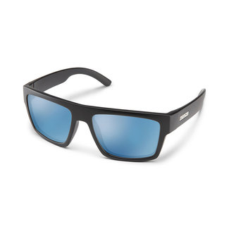 SunCloud Suncloud Flatline Matte Black Polarized Blue Mirror