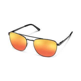 SunCloud Suncloud Fairlane Matte Black Polarized Red Mirror