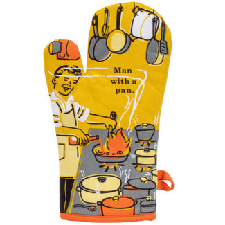 Blue Q Blue Q Oven Mitt - Man With A Pan