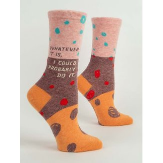 Blue Q Blue Q Women's Crew Socks - Whatever It Is I Could Probably Do It