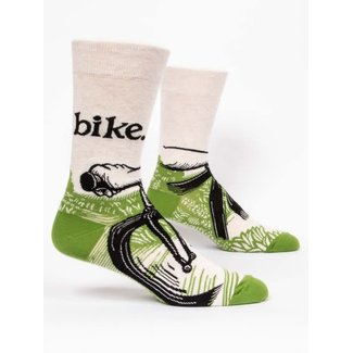 Blue Q Blue Q Men's Crew Socks - Bike Path