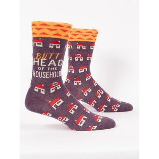 Blue Q Blue Q Men's Crew Socks - Butthead Of The Household