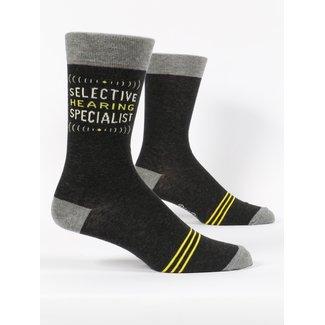 Blue Q Blue Q Men's Crew Socks - Selective Hearing Specialist