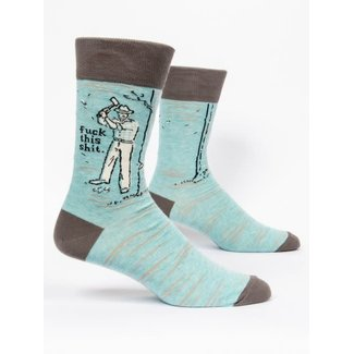 Blue Q Blue Q Men's Crew Socks - Fuck This Shit