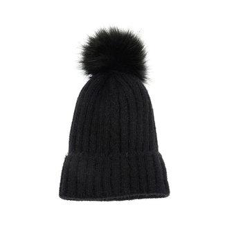 Joy Susan Single Cable Pom Pom Hat