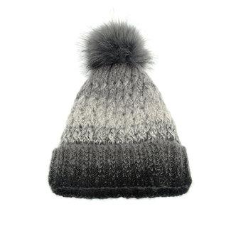 Joy Susan Chunky Knit Pom Pom Hat
