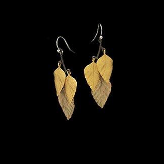 Michael Michaud Design Michael Michaud Autumn Birch Earrings - 3 Leaf Wire
