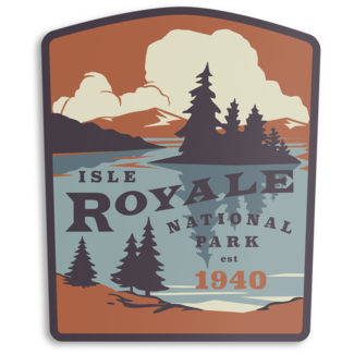 The Landmark Project The Landmark Project Isle Royale Sticker