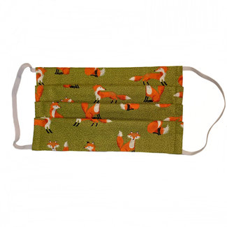 The Painted Trout Hand-Made Fabric Face Masks Foxes