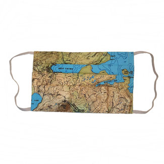 The Painted Trout Hand-Made Fabric Face Masks Yellowstone Map