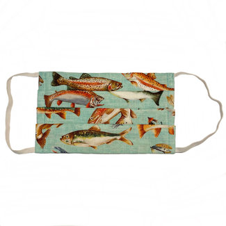 The Painted Trout Hand-Made Fabric Face Masks Big Fish