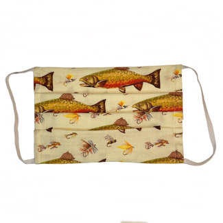 The Painted Trout Hand-Made Fabric Face Masks Brook Trout