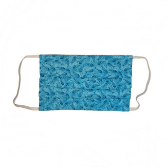 The Painted Trout Hand-Made Fabric Face Masks New Blue Fish