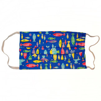 The Painted Trout Hand-Made Fabric Face Masks Fun Fish
