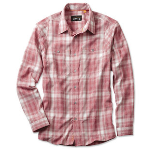 Orvis Orvis Men's Tech Chambray Plaid Work Shirt