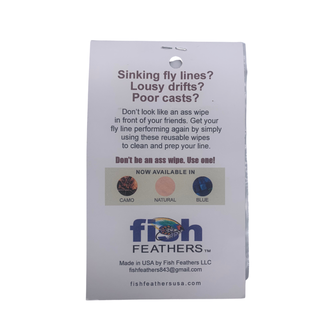 Fish Feathers Fish Feathers Fly Line Cleaning Patches