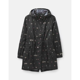 Joules Joules Women's Golightly Printed Waterproof Packaway Jacket