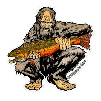 "Boneyard Fly Gear Sasquatch Brook Trout Sticker 5"" x 5"""