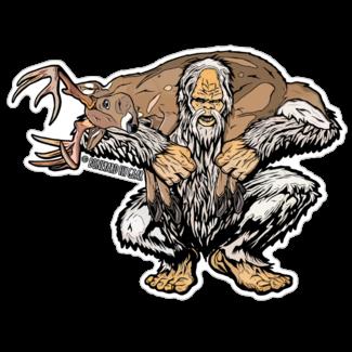 """Boneyard Fly Gear Yeti Deer Sticker 5"""" x 6.75"""""""