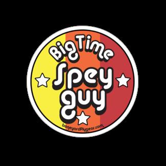 "Boneyard Fly Gear Big time Spey Guy Sticker 4"" x 4"""