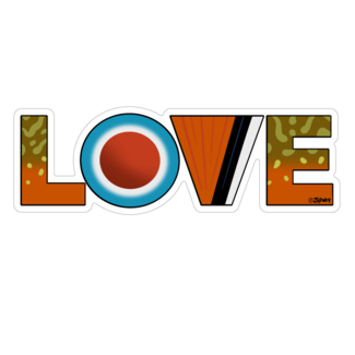 """Boneyard Fly Gear Brook Trout Love Sticker 2.25"""" x 6.5"""""""
