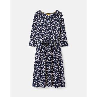 Joules Ariella 3/4 Length Sleeve Midi Jersey Dress