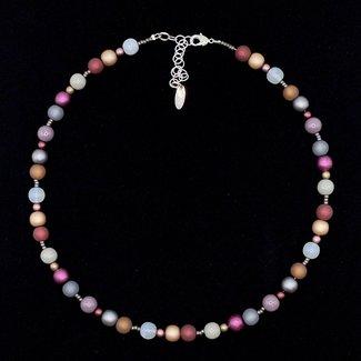 PMA Necklace Small/Tiny Bead Raspberry