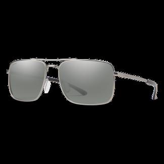 Smith Optics Smith Outcome Matte Silver with Polarized Platinum Mirror Lenses