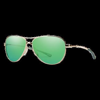 Smith Optics Smith Langley Gold with Green Mirror Lenses