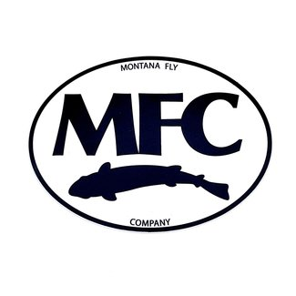 "Montana Fly Company MFC Black & White Logo Sticker 5"""