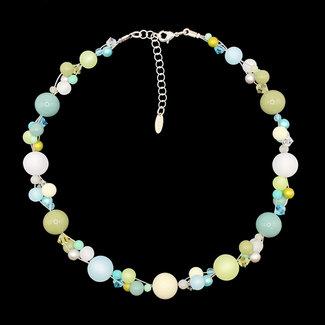 PMA Necklace Twist Medium Crystal Light Blue