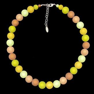 PMA Necklace Frida Medium Winter Olive/Brown/Mustard