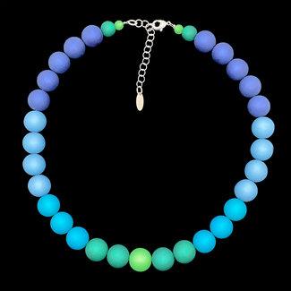PMA Necklace Medium 5 Shades Winter Teal/Blues