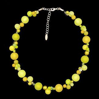 PMA Necklace Twist Medium Black Wire Olive